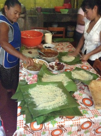 Tamale Making in the village