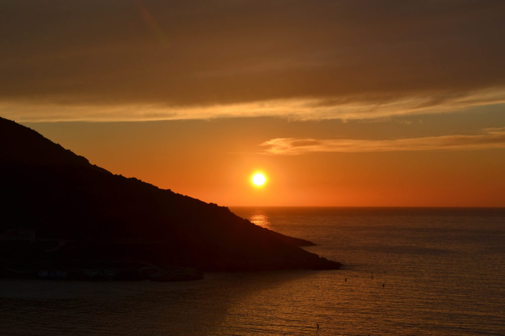 Coucher de soleil en Corse