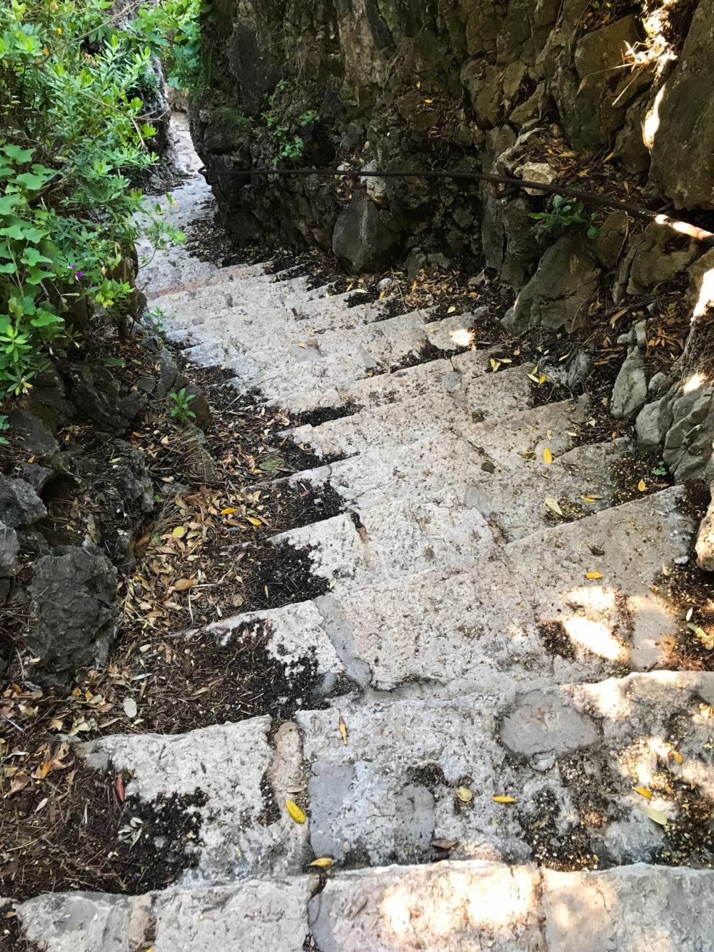 chemin sentier du littoral cap d'antibes