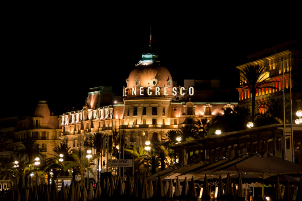 negresco nuit plage