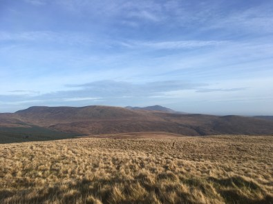Over hills and far away: the Mournes ... Donald and Binnian in the distance