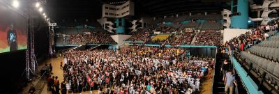 Panorama of the crowd
