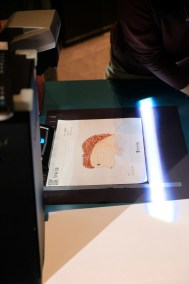 Scan your drawings onto a screen