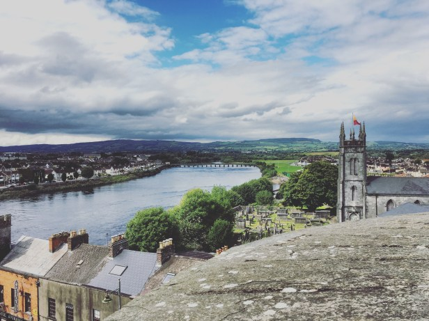 The view of the River Shannon from King John's Castle