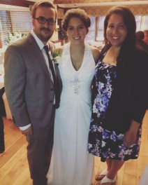 With the lovely groom and bride!