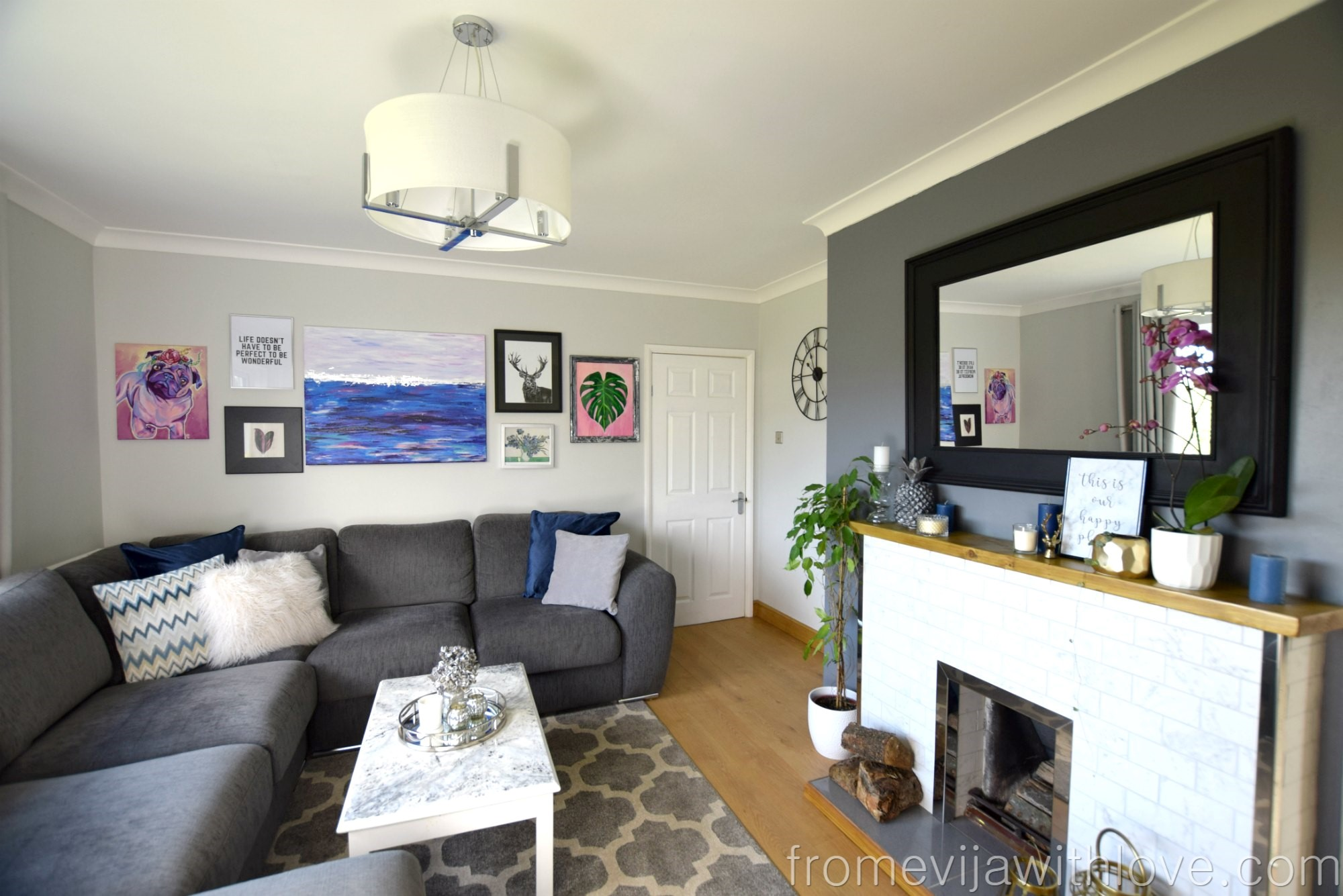 Living Room Makeover on a Budget - From \