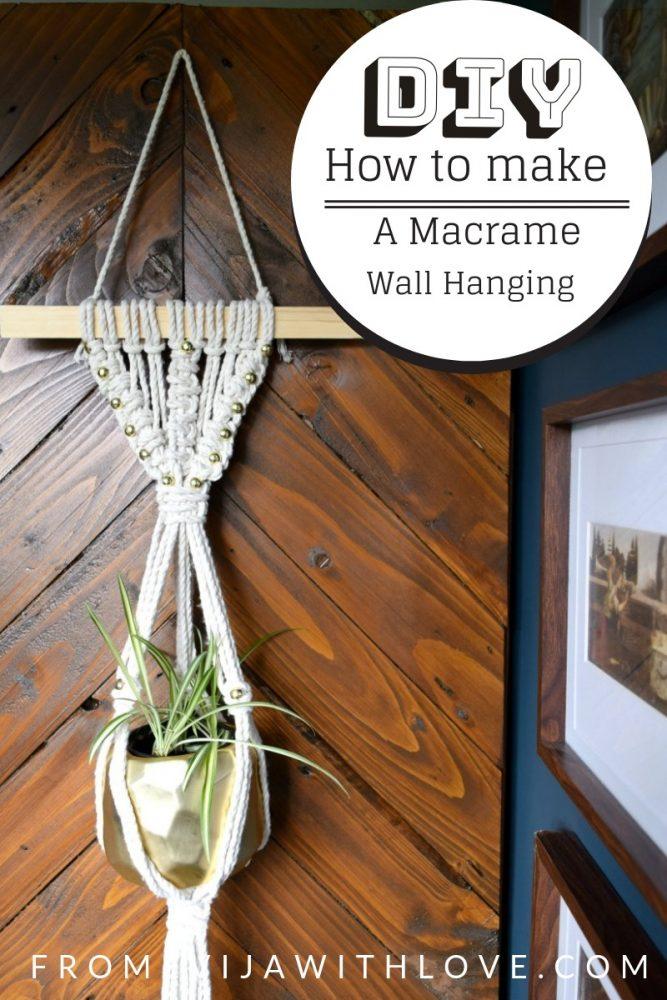 Macrame wall hanging DIY