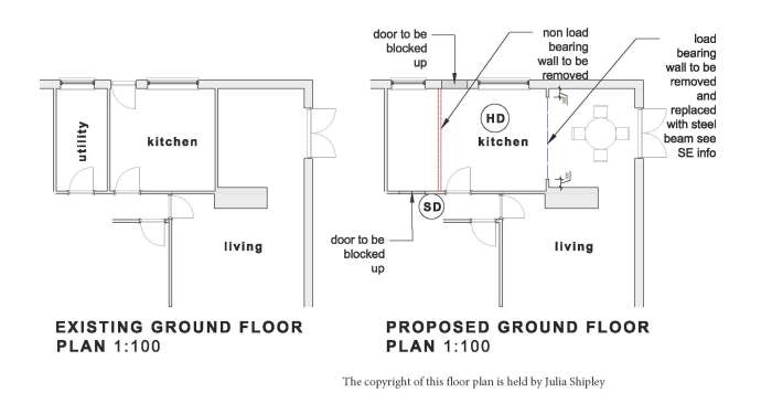 kitchen renovation - floor plans and design