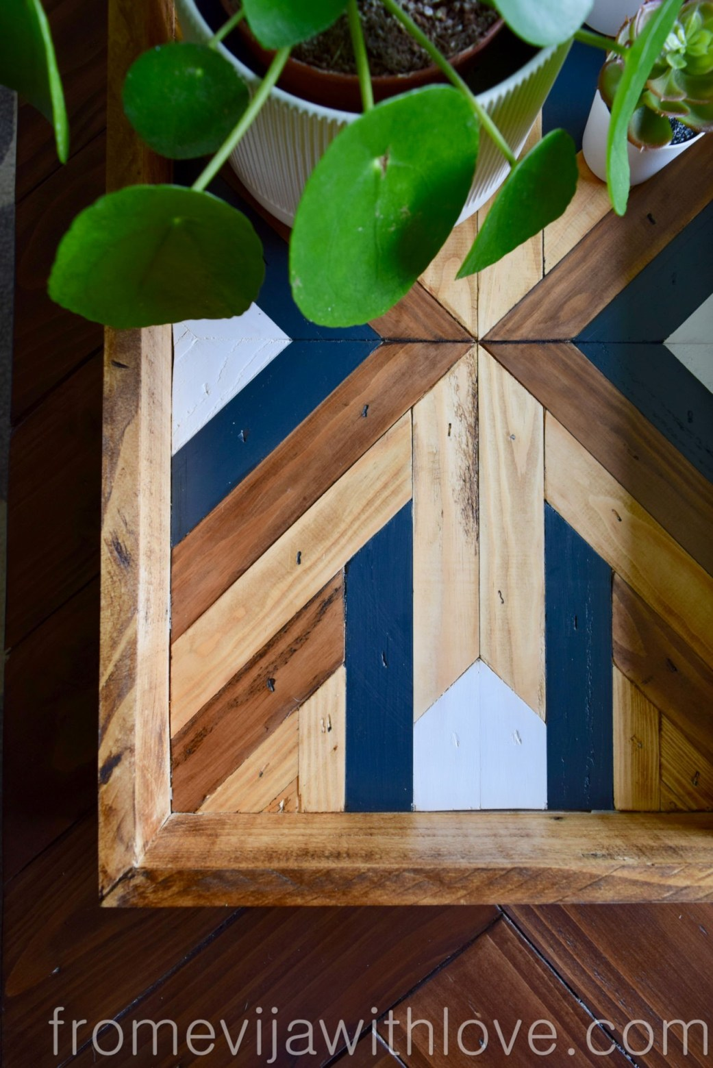 Decorative Geometric Wood Tray