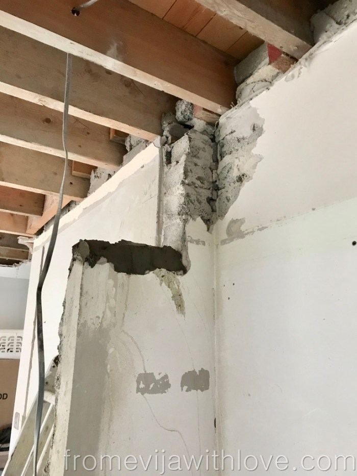 Kitchen Renovation Diaries - load bearing wall - installing a steel beam