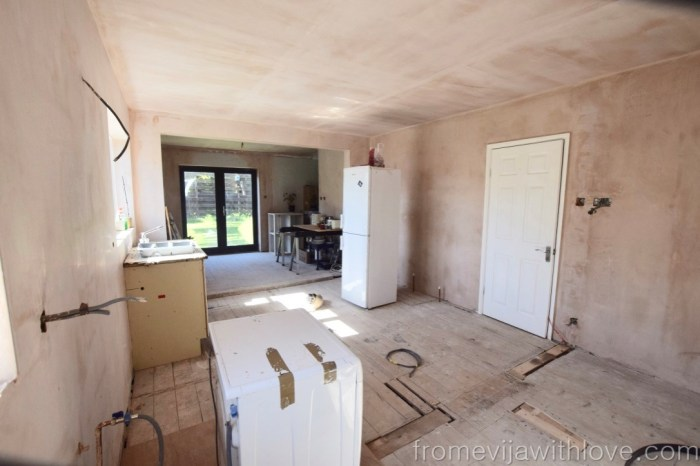 open plan kitchen remodel