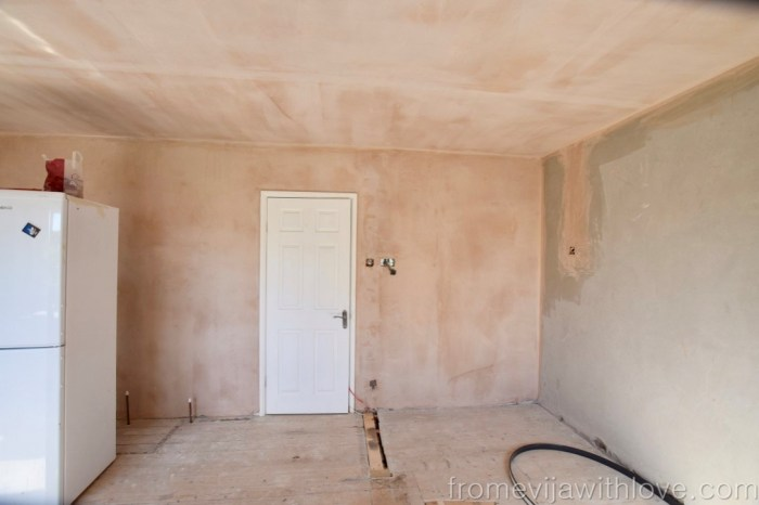 Fresh plastered walls