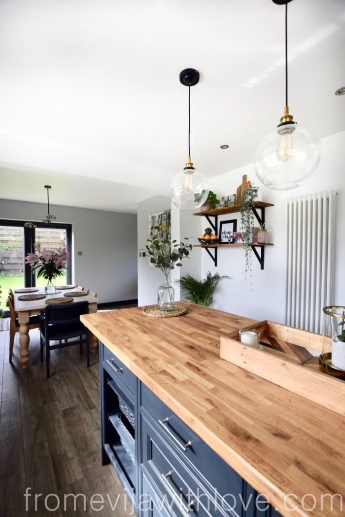 wooden worktop kitchen dining room