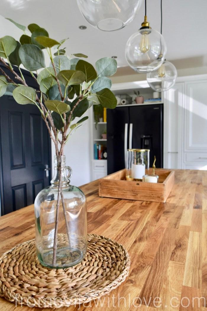 Kitchen renovation DIY project kitchen island wooden worktop