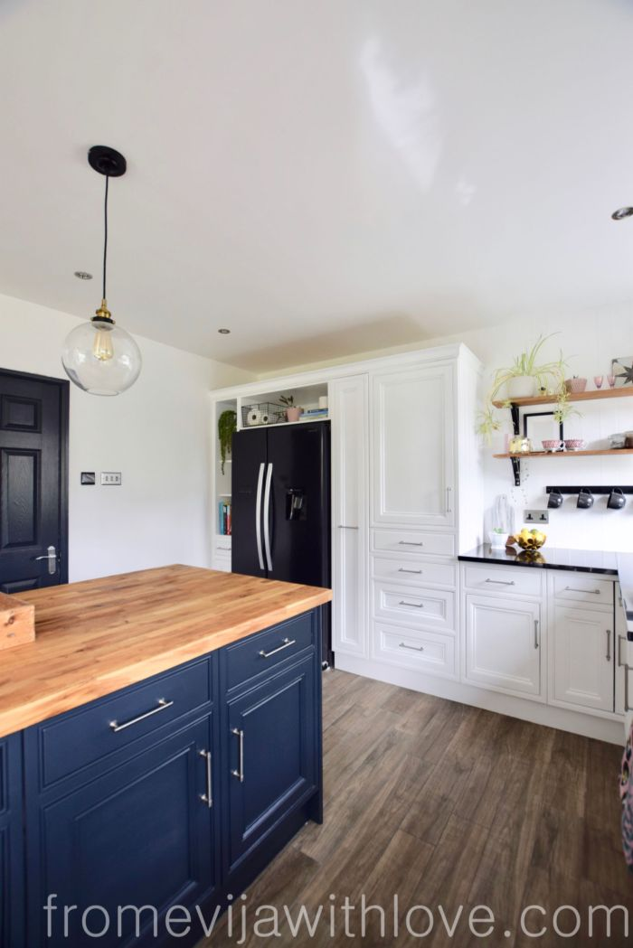 kitchen renovation diy two toned