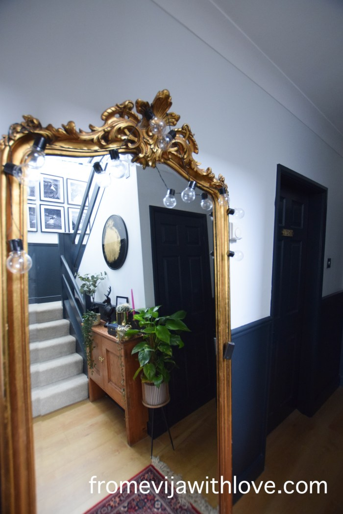 hallway makeover dark and eclectic style