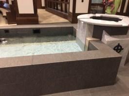 Ginormous baptismal font.