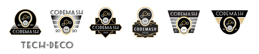 CodeMash Tech Deco logo concepts
