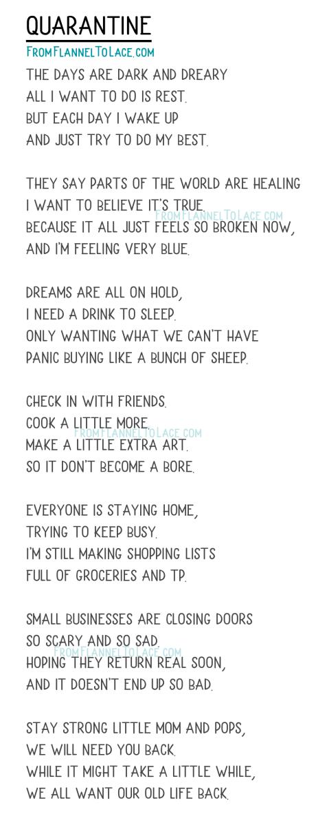 Quarantine Poem