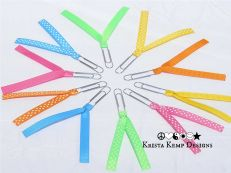 Bright Paperclip Ribbon Bookmarks