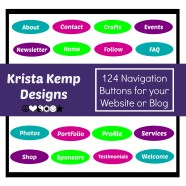 Add a little flair to your website or blog with these vibrant oval navigation buttons.