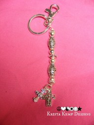 Faith Keychain-Cross keychain or purse charm