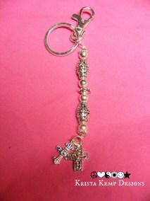 Faith Keychain-Cross keychain or purse charm
