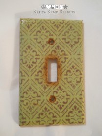 Decorative Sage Green/Brown Light Switch Plate
