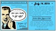 Custom Printable Fashionista Extravaganza/Ugly Dress Fashion Show Party Invitations