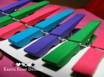 Vibrant Clothespins-Perfect for displaying artwork in the classroom