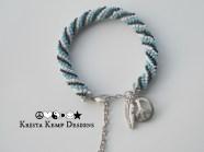 Hippie Love Crochet Bead Bracelet