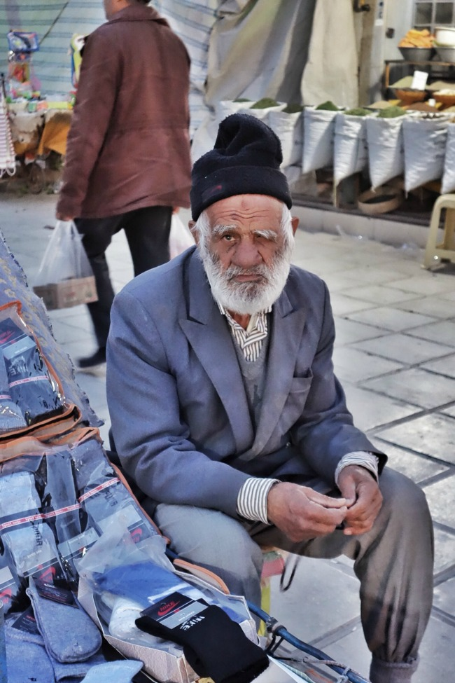 Homeless man Iran