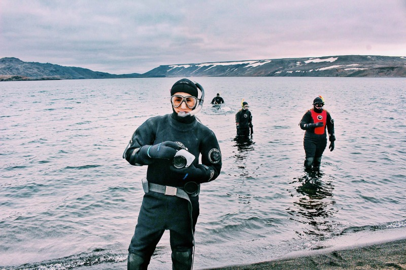 Kleifarvatn Diving in Iceland