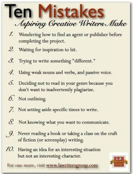10 Mistakes Aspiring Writers Make