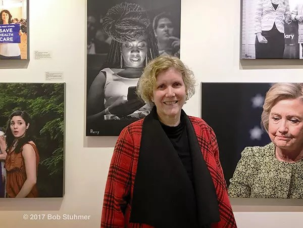 Huntington, New York, USA. March 5, 2017. Artist Ann Parry at Opening Reception for
