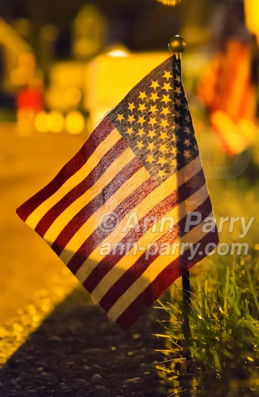 Merrick, NY USA. Sept. 11, 2012. 500 Luminary Bags placed in front of all 215 Wenshaw Park homes on 11th Anniversary of 9/11, by Wenshaw Park Civic Association (WPCA), Long Island, with over $500 already raised for Twin Towers Orphan Fund.