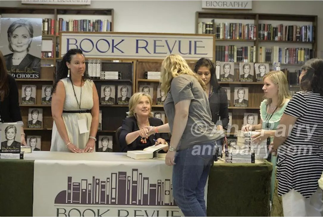 Hillary Clinton Book Signing 'Hard Choices' at Huntington Book Revue