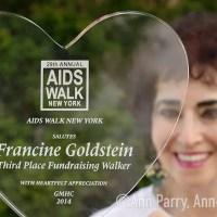 AIDS Walk NY: Francine Goldstein's 600K Marathon