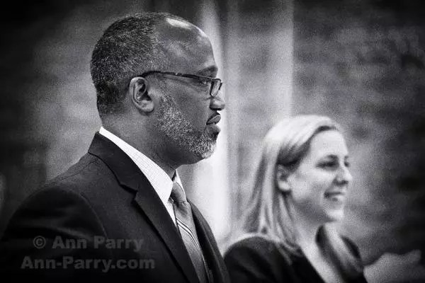 Levittown, NY, USA. June 4, 2018. Debate between Congressional District 2 Democratic primary candidates Suffolk County Legislator DuWayne Gregory and Liuba Grechen Shirley, held by Seaford Wantagh Democratic Club at Levittown Hall.