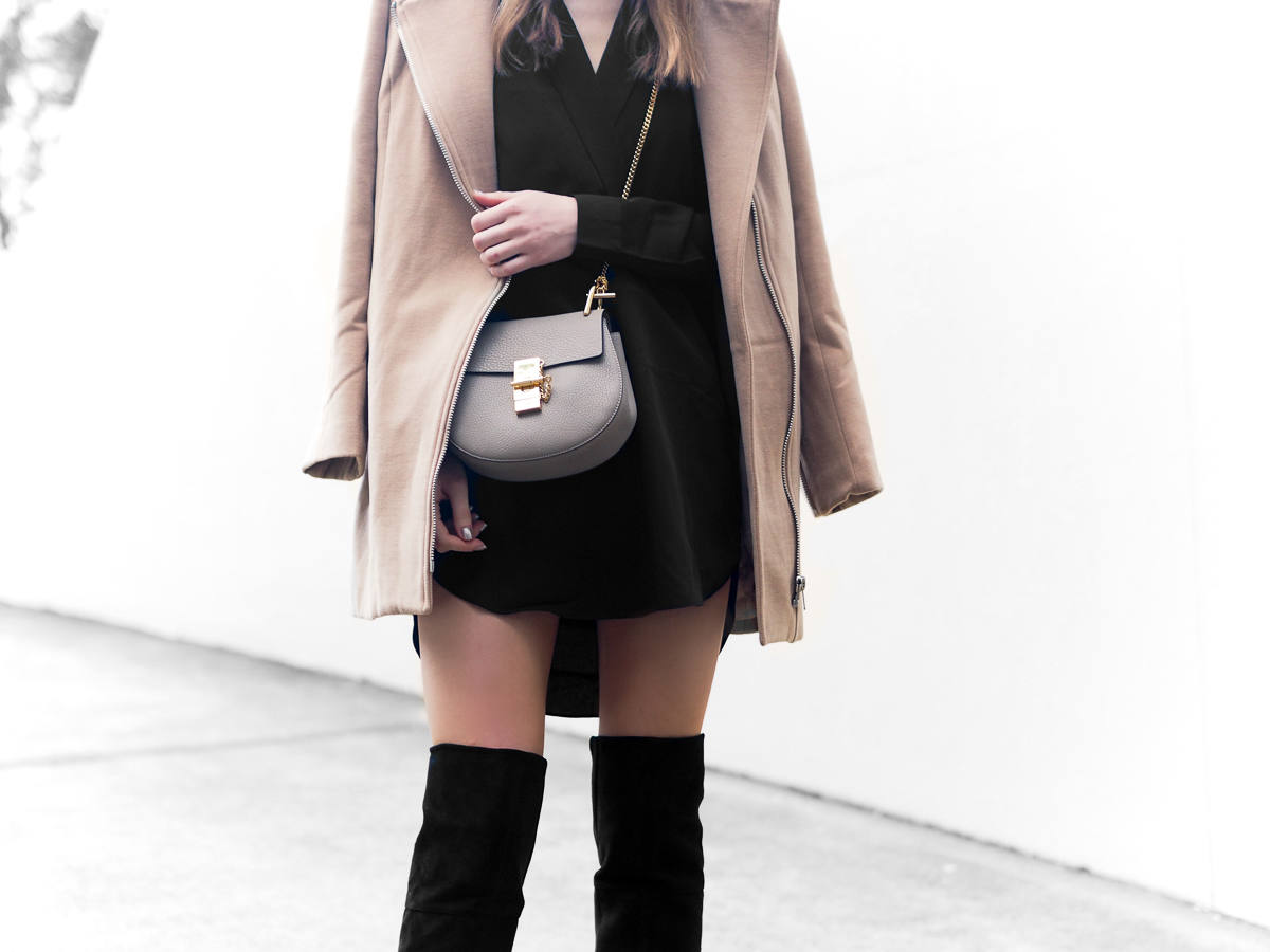 Missguided Camel Biker Coat Chloe Drew Bag From Luxe With Love