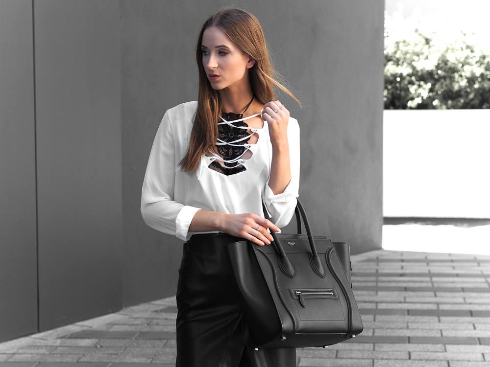 Fashion Blogger Celine Mini Luggage Outfit