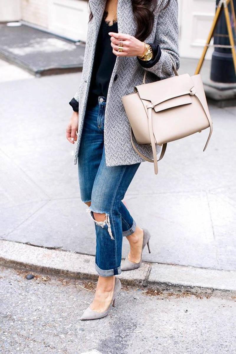 Celine Belt Bag Street Style Outfit Celebrity