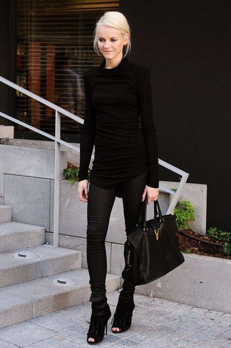 YSL Bag Street Style Outfit Celebrity