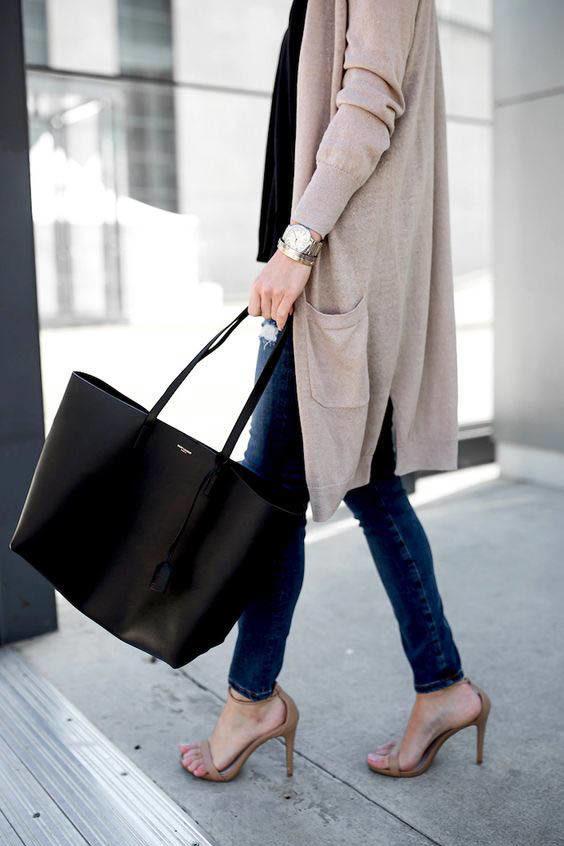 Saint Laurent Shopper Tote bag street style outfit