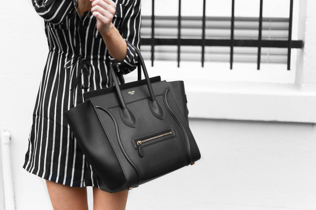 Celine Mini Luggage Bag Outfit Street Style