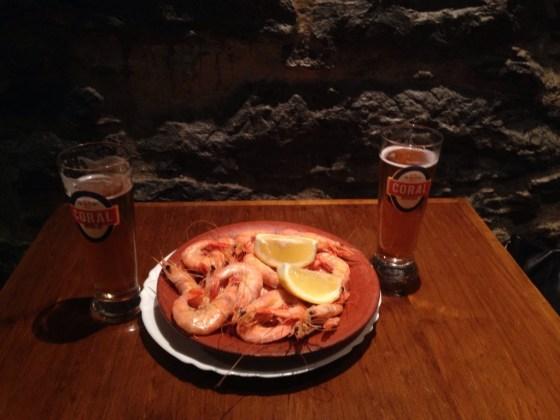 7.O bar do camarão, no Caniço