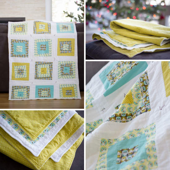 Forest Friends flannel baby quilt