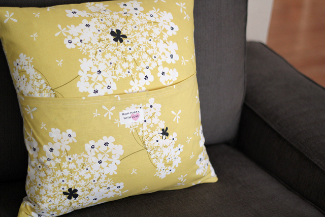 Madrona Road Pillow (back) - from Marta with Love
