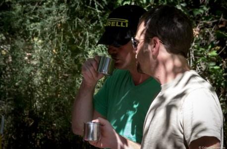 Sam and Enzo enjoying Espresso