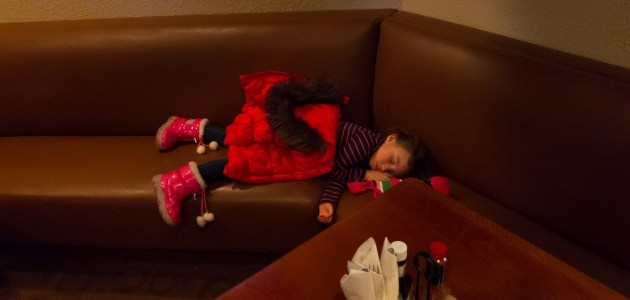 Passed out after dinner